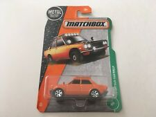Matchbox 1970 Nissan Bluebird 510 Rally Car 1:64 Orange Diecast Model