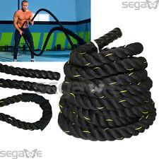 """1.5"""" Battle Ropes Exercise Batting Ropes Muscle Toning Metabolic Workout 30 ft"""