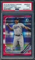 WANDER FRANCO 2019 Bowman Chrome National RED Prism Refractor #/5 RC PSA 9 MINT
