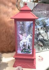 ~❤️~UNICORN Pink Fairy Lantern LED Night Light Snow Globe~❤️~