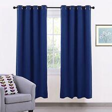 Rideaux et cantonnières panneaux bleus pour le salon