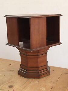 Vintage miniature rotating bookcase.