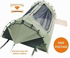 Diamantina Dux Guts KING SIZE Dome Swag - Heavy Duty Rip Stop Canvas 2100mm LONG