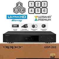 OPPO DIGITAL UDP-203 REGION FREE 4K ULTRA HD UHD HDR 3D BLU-RAY DVD PLAYER NEW