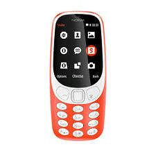 """Nokia India Warranty Nokia 3310 Duos Dual 16MB 2.4"""" 2MP LED Flash Warm Red Color"""