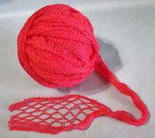 3.5 oz Ball Fuchsia Pink Fish Net Yarn For Flounce Ruffle Twisted Scarf