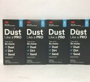 3M Dust Like A Pro Dry Sweep & Dust 8 Sheets Trap Dust Dirt & Sand 5x6 Lot of 4