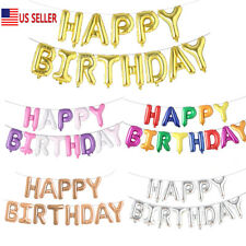 "HAPPY BIRTHDAY Set Alphabet Letters Foil Balloons Birthday Party Decor 16"" US"