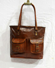 Real leather vintage ladies bag goat hide handbag tote from india for Women Girl