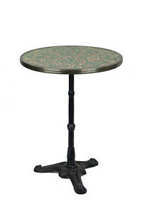 """FRENCH PINK/GREY GRANTE BISTRO TABLE, 24"""" DIA., FREE SHIPPING !"""