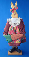 "whimsical mamma 16"" Easter bunny rabbit with welcome carrot & heart nose"