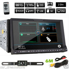 "Backup Camera+7""HD Double 2 Din Car Stereo Radio CD DVD MP3 Player GPS Bluetooth"