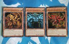 The Winged Dragon of Ra + Obelisk the Tormentor + Slifer the Sky Dragon - YuGiOh
