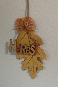 Herbstblatt Herbst Schriftzug Blatt Gelb Grün