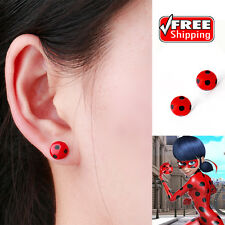 Miraculous Ladybug Stud Earrings the Metal Circle Animal Earrings FREE SHIPPING