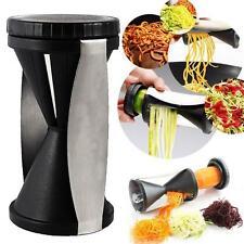 Hot ! Spiral Slicer Cutter Kitchen Vegetable Fruit Spiralizer Twister Peeler -6A