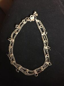 vintage silver Anklet Signed Michael Valitutti