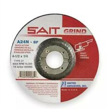 UNITED ABRASIVES SAIT 20060 Depressed Center Wheels Type 27 4.5