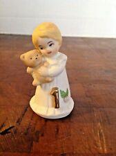 1981 Enesco Growing Up 1 Year Old Girl With Teddy Bear