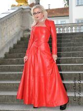 Lederkleid Leder Kleid Rot Abend Weitschwingend Maßanfertigung