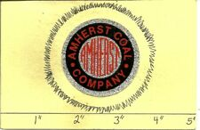 """Amherst Coal Co -Hard Hat-Coal Mining Sticker-Decal """"Old"""""""