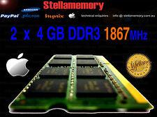 Apple 5K iMac Late 2015 8GB Memory 2x 4GB DDR3 1867MHz Ram PC3L-14900 1866 17,1