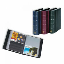 Postcard album with 50 clear pockets, blue