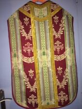 ANCIENNE CHASUBLE  TISSU XVIII Complet