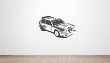Lancia Delta Evolution Group B large wall art decal / sticker. (Rally, 80's)