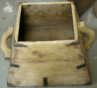 ANTIQUE PRIMITIVE RUSTIC WOODEN BOX WITH METAL HARDWARE