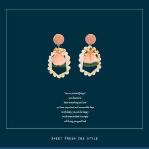 Female Pink Sweet Cute Peach Earrings
