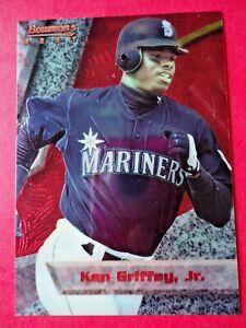 Ken Griffey Jr., 1994 Bowman's Best Red Baseball card # 40, Seattle Mariners, OF