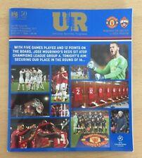 Programme Manchester United v CSKA Moscow 05 DEC 2017 European League 2017/18