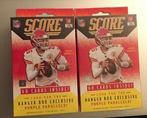 (2) 2021 PANINI SCORE NFL Retail HANGER BOXES 60 Cards Each Trevor Lawrence RC?