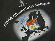 T shirt OLYMPIQUE LYONNAIS Lyon OL signed signé JOHN CAREW ultras foot UEFA ldc