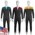 Deep Space Nine Cosplay Commander Sisko Duty Red Uniform Jumpsuit Men Costumes