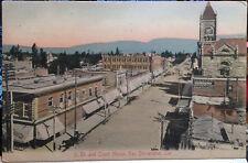 SAN BERNARDINO, CALIFORNIA Hand Colored M. Rieder Post Card Pre 08, Street Scene