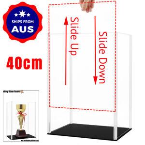 AU Acrylic Plastic Display Case 40cm H Big Box Self-Install Dustproof Protection