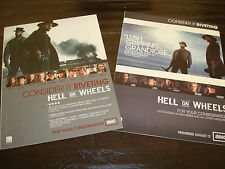 HELL ON WHEELS 2 Emmy ads Common with ax Anson Mount, Colm Meaney for Best Drama