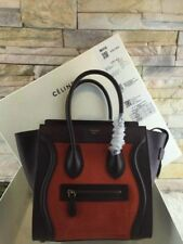 celine nano bag pebbled leather bicolor