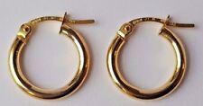 14ct Yellow Gold Plain Hoop Earrings 0.7g *NEW* Xmas Gift Mum Wife Daughter 14k