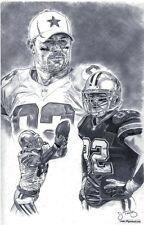 Jason Witten Dallas Cowboys sketch drawing poster ART