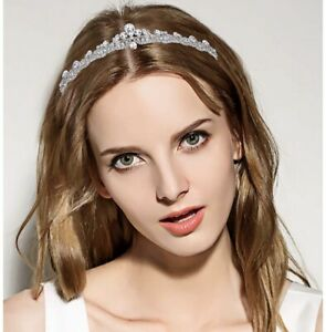 Ever Faith Austrian Crystal Silver Tone Headband Tiara