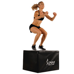 """Sunny Health and Fitness 3 in 1 Weighted Foam PLYO Box 30"""", 24"""", 20"""" (No. 085)"""
