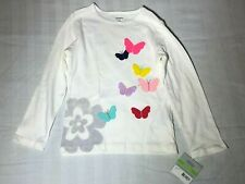 Carter's Playwear Toddler 4T Long sleeve White T-shirt New With Tags