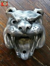 A BEER BUDDIES BULLDOG, WALL MOUNTED BOTTLE OPENER SILVER FINISH