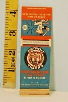 1963 Detroit Tigers Baseball Home Schedule Matchbook w/Fab Tiger Logo Graphics