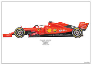 2019  Charles Le Clerc Ferrari SF90 ltd ed. /250 signed & numbered by artist