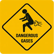 Dangerous Gases Blechschild 8x11 cm Blechkarte Sign PC-201/427