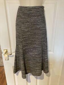 M&S Classic Flared Multicoloured Midi Skirt Size 10